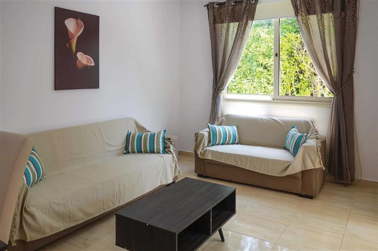 Living room in Villa Marina, Coral Bay