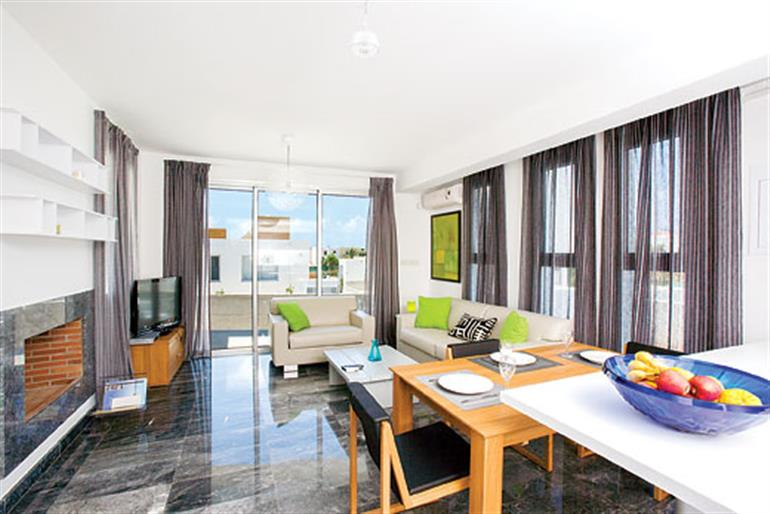 Living room in Villa Marine, Paphos on Cyprus