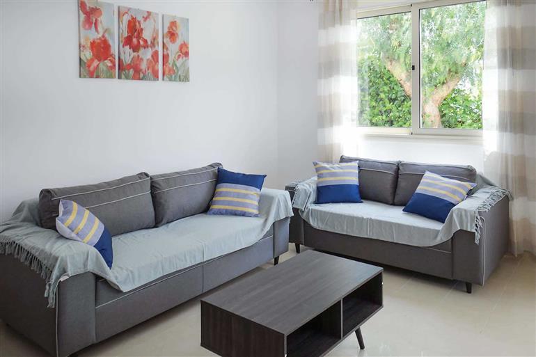 Living room in Villa Marlena, Coral Bay