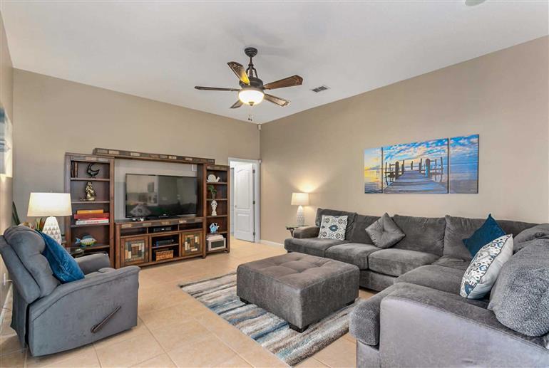 Living room in Villa Millie, Highlands Reserve