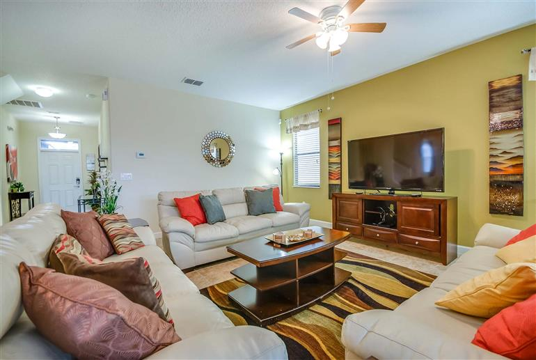 Living room in Villa Moon Valley Drive, Champions Gate