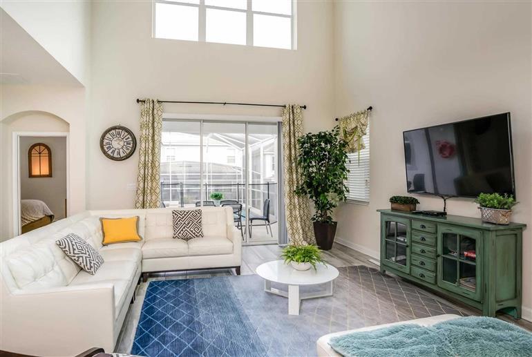 Living room in Villa Muligan, Champions Gate