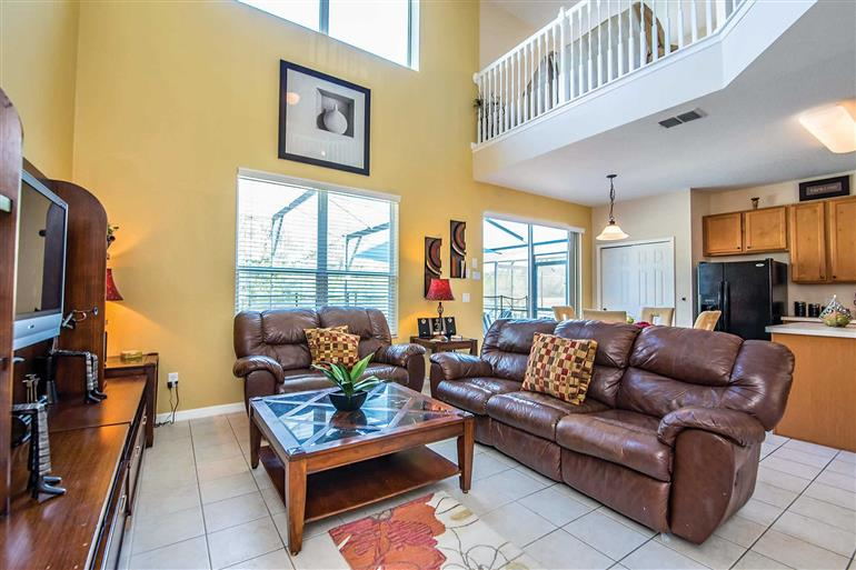 Living room in Villa Orange Blossom, Disney Area and Kissimmee