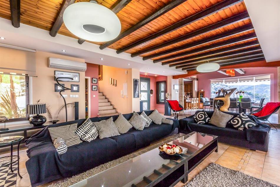 Living room in Villa Panorama, Cyprus