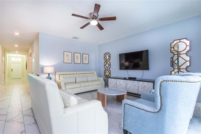 Living room in Villa Pumpkin, Champions Gate