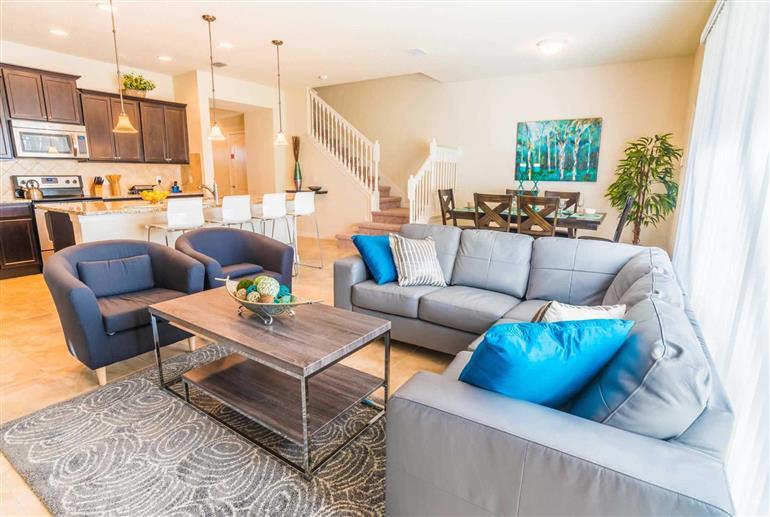 Living room in Villa Rome Drive, Windsor at Westside