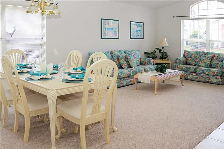 Living room in Villa Sandpiper, Disney Area and Kissimmee