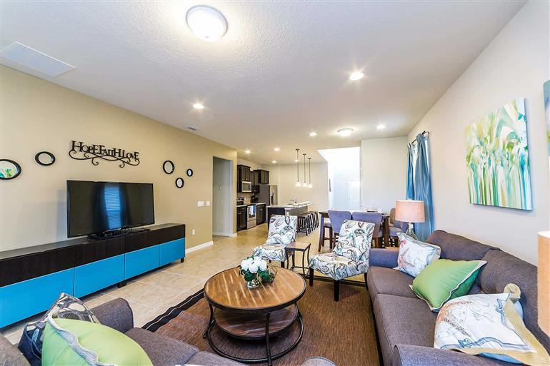 Living room in Villa Somerset Pines, Windsor at Westside
