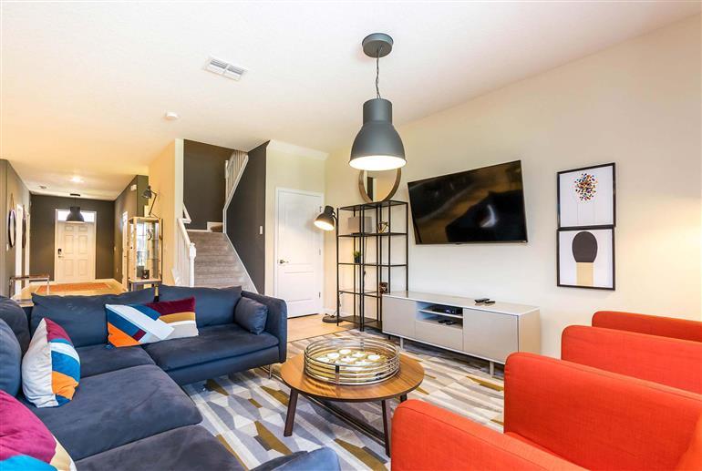 Living room in Villa Starfruit, Champions Gate