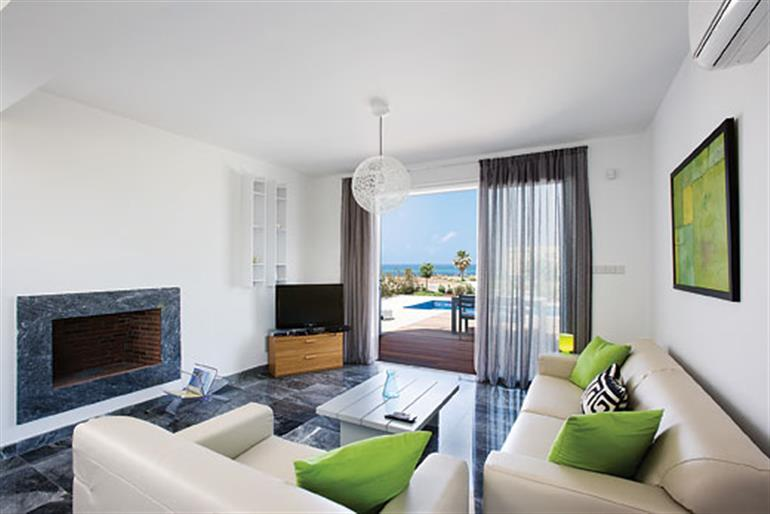 Living room in Villa Turquoise, Paphos
