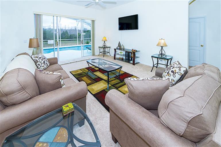 Living room in Villa Vanda Executive, Highlands Reserve Disney Area and Kissimmee
