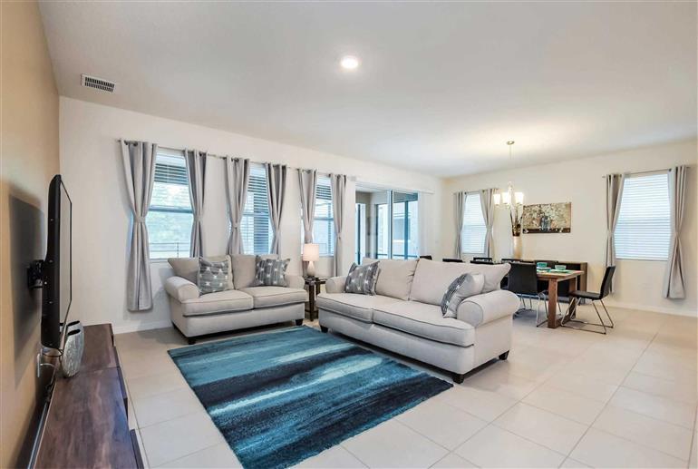 Living room in Villa Vanilla, Solterra Resort