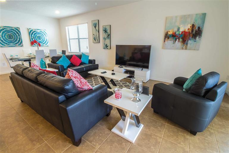 Living room in Villa Victoria, New Providence