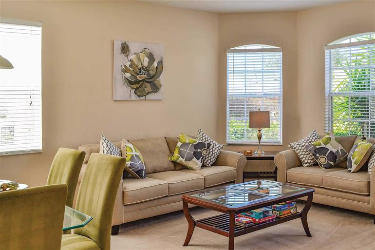 Living room in Villa White Bear, Highlands Reserve, Orlando - Florida