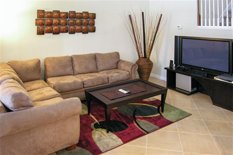 Living room in Villa Windsor Palms Executive V, Windsor Palms Disney Area and Kissimmee