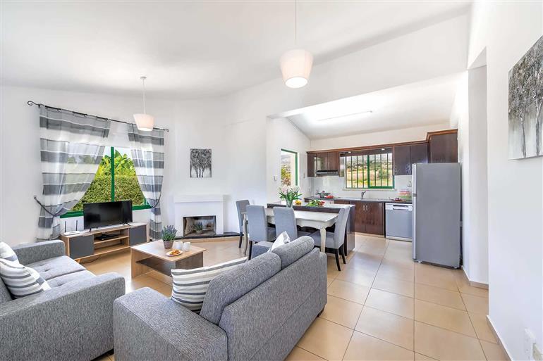 Living room in Villa Xenia, Coral Bay, Cyprus