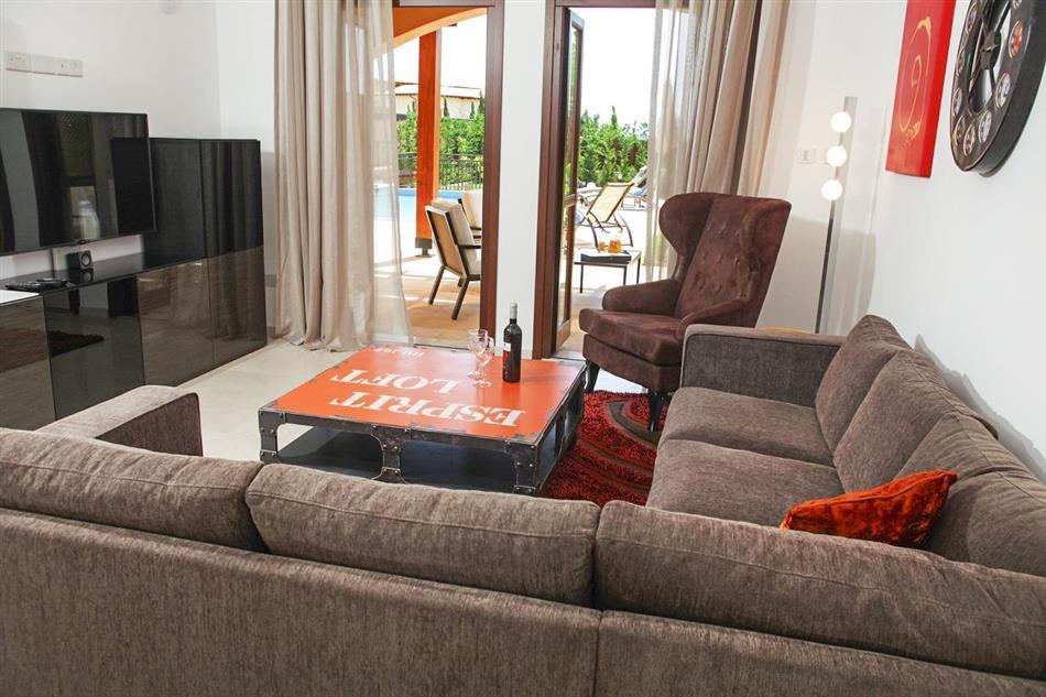 Living room in Villa Xenia, Cyprus