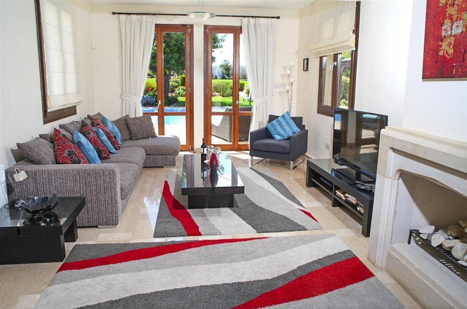 Living room in Villa Zsofia, Cyprus