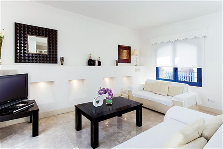 Living room in Villas Jardines, Corralejo on Fuerteventura