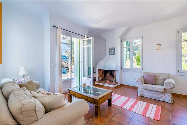 Living room in Zoes Villa, Skopelos Town