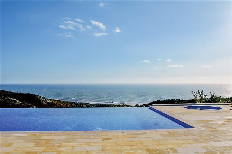 Swimming pool and views at Villa Iris, Aphrodite Hills