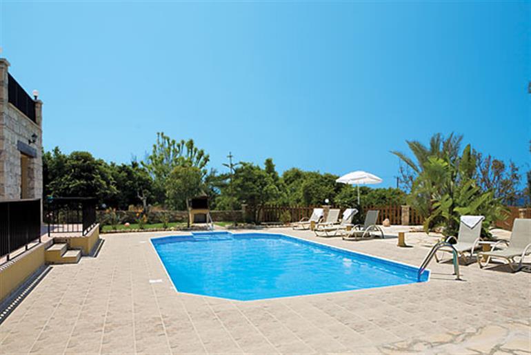Swimming pool at Chrisandria, Argaka