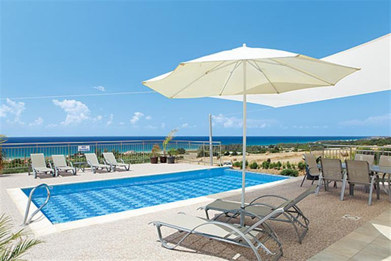 Swimming pool at Freedom Villa, Argaka