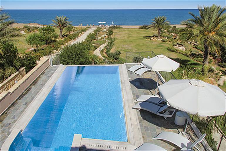 Swimming pool at Galene Beach Villa, Polis