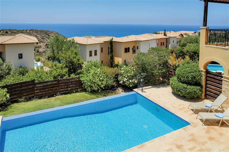 Swimming pool at Theseus Village TB01, Aphrodite Hills