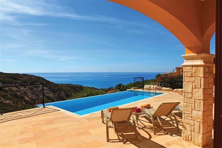 Swimming pool at Theseus Village TE02, Aphrodite Hills