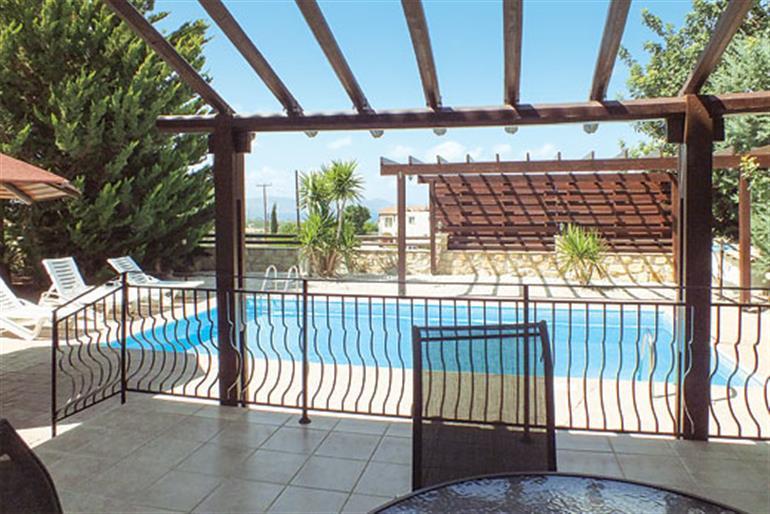 Swimming pool at Villa Agathi, Argaka