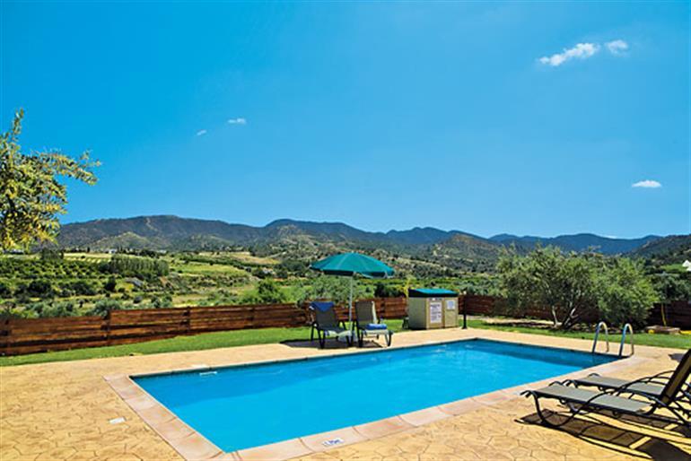 Swimming pool at Villa Aphrodite, Argaka