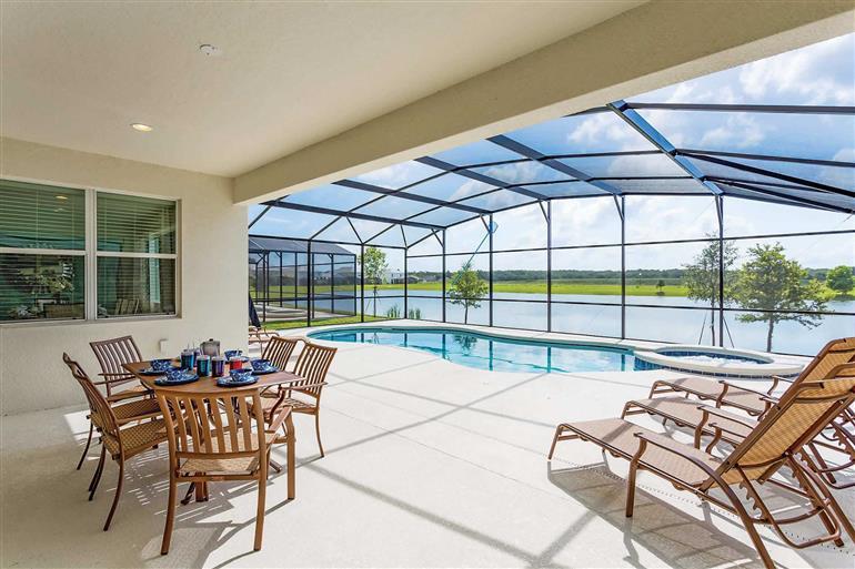 Swimming pool at Villa Bella Vista, Disney Area and Kissimmee