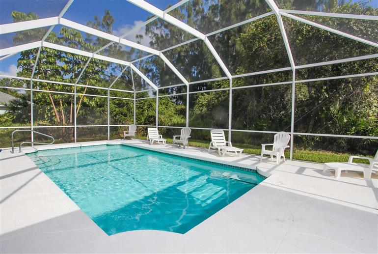 Swimming pool at Villa Butterfly, Englewood