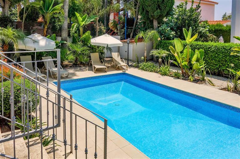 Swimming pool at Villa Cameron, Coral Bay, Cyprus