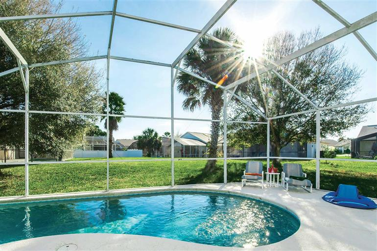 Swimming pool at Villa Honey Pot, Disney Area and Kissimmee