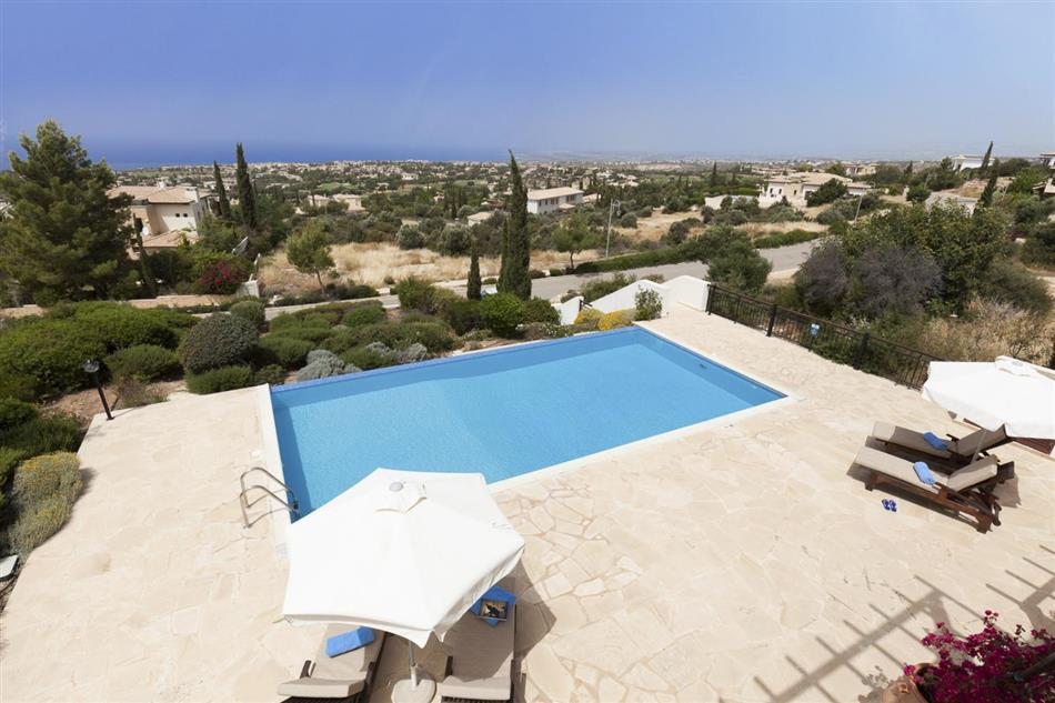 Swimming pool at Villa Ilene, Cyprus