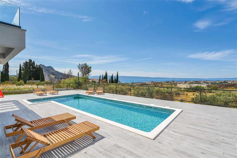 Swimming pool at Villa Morena, Split, Croatia