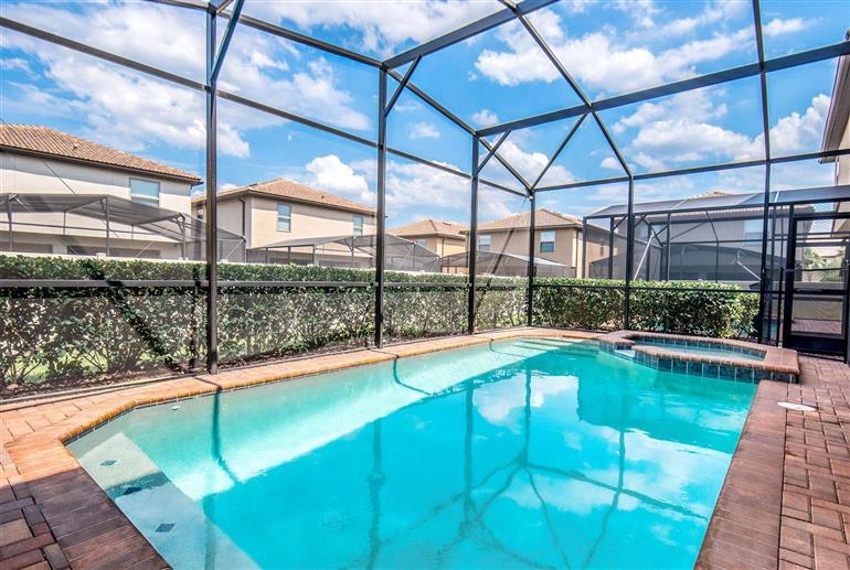 Swimming pool at Villa Morocco Way, Windsor at Westside