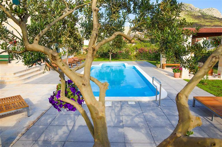 Swimming pool at Villa Wishing Lodge, Split, Croatia